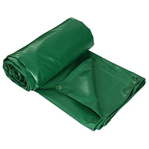 Tang chao lenzuolo per telo impermeabile in tela cerata per uso pesante - coperchio di qualità premium realizzato in tela da 450 g/mq. tarpaulin green (dimensioni : 3x5m)