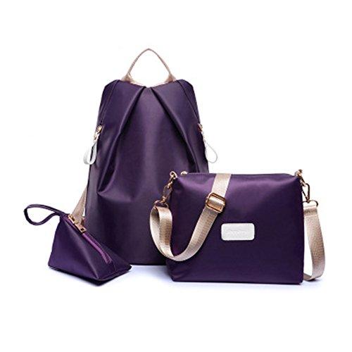 TOMATO-smile, Borsa a zainetto donna blu Black Purple