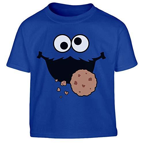 Süßes Karneval & Fasching Keksmonster Krümel Kostüm Jungen Kinder T-Shirt 96/104 (3-4J) - Ernie Kostüm Shirt
