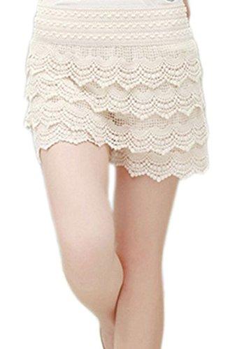 ACHICGIRL-Women-Vintage-High-Waist-Lace-Shorts