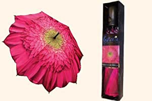 Galleria auto folding umbrella - Gerbera Daisy