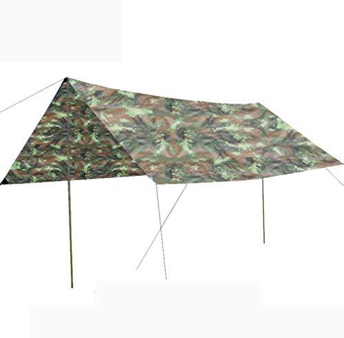 LJJYN Sky-Bildschirm Zelt draussen Anti-UV Markise wasserdicht Markise Übergroß Picknick Park Strandzelt,Camouflage 2,300 * 300cm