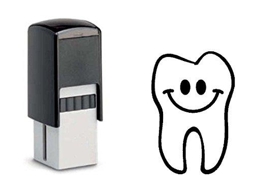 BONUSKARTENSTEMPEL « ZAHN » Stempel mit Motiv 10x10 mm - Bonuskarte Verkauf Bonus Zahnarzt Zahnpflege Drogerie