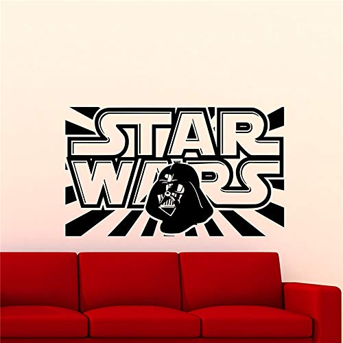 Wall Stickers Logo Wall Decals Darth Vader Quote Poster Vinyl Stickers Family Teen Children's Room Bedroom red 97 x 58 cm -