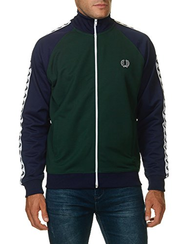 Fred Perry Sports Laurel Wreath Colour Block Track Top Small IVY