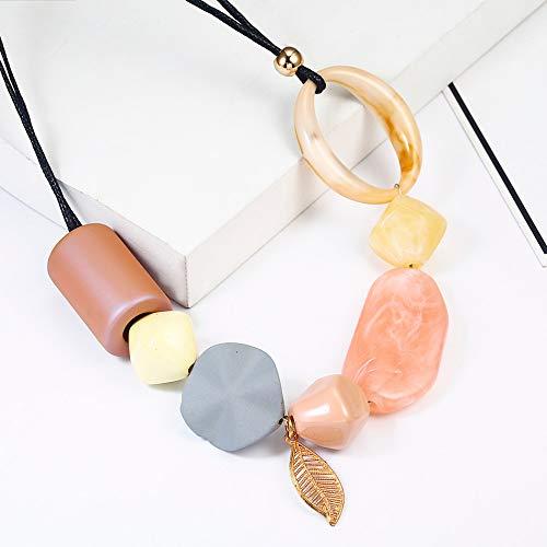 XZZZBXL Damenhalskette,Anhänger Frauen/Aussage/Big/Perlen/Jahrgang/Lady/Collier Halsketten Für Frauen Halsschmuck Kurze Halskette
