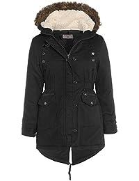 SS7 Mädchen Leinen Gefütterter Parka Mantel Jacke schwarz, khaki 7-13 Jahre