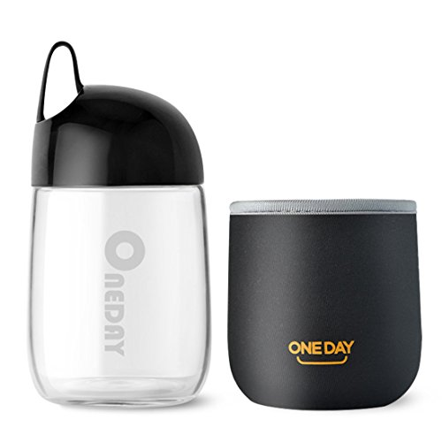 oneday sb90014300ml botella de agua de cristal bonita forma de hue