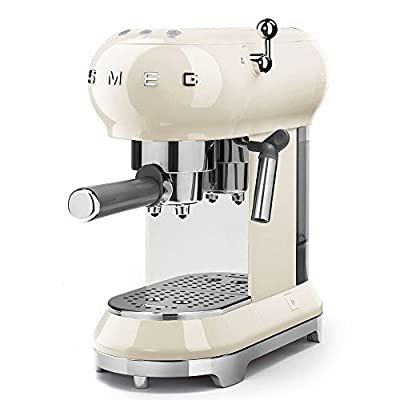 Smeg ECF01BLUK Traditional Pump Espresso Coffee Machine, Adjustable Cappuccino System from DTBA-