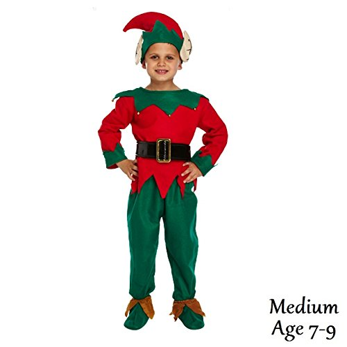 Medium Christmas Elf - Child's Dressing Up Outfit (Ages 7-9 years) by Dress Up