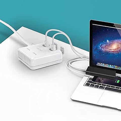 CHUWI hidock Qualcomm Schnellladung 3,0 40 W 4-puerto Hub USB Desktop Charger Adapter Multi Port-Station Schnellladung iPhone 7/6 Plus, iPad Pro/Air 2/Mini, Galaxy S7/S6/Edge/Plus, Note 5/4, LG, Nexus, HTC