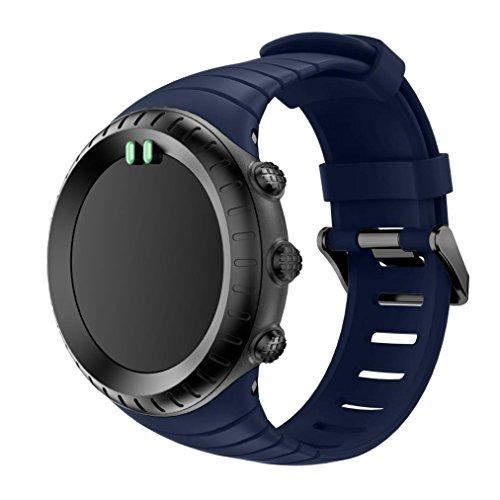 Sport Watch Band, Happytop silicone bracciale orologio da polso per Suunto Core, Uomo, Blue, S