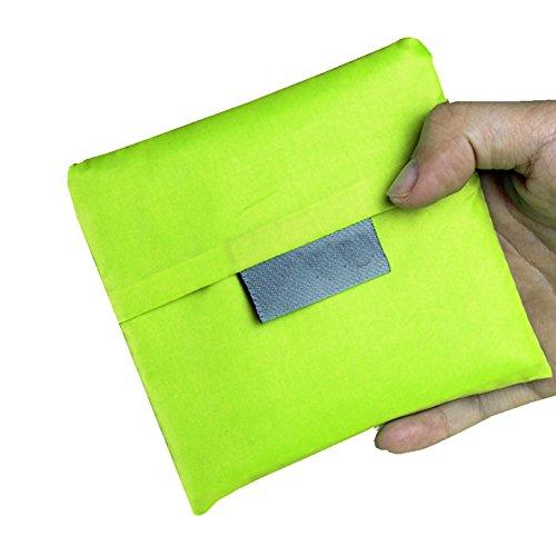 Wiederverwendbare Einkaufstaschen, favolook Eco faltbar Lebensmittels Tasche Tote Damen Schulter Reise Taschen Aufbewahrung Organizer grün