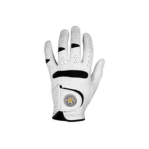 Leicester City Herren Golf-Handschuhe, teilsynthetisch Weiß weiß (Mascot Handschuhe)