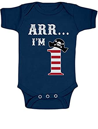 7a58799a Arr I'm 1 Pirate Birthday Party Cute 1st Bodysuit Gift for One Year Old