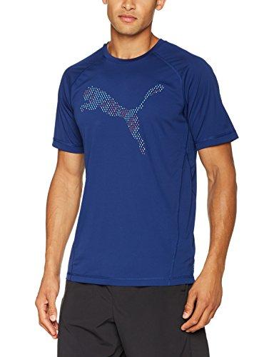 Puma Herren Vent Cat Tee T-Shirt blue depths