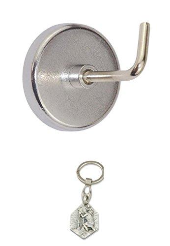 Preisvergleich Produktbild Rundmagnet-Set mit Haken 10-teilig, Magnet (902988207301) mit Anhänger Hlg. Christophorus