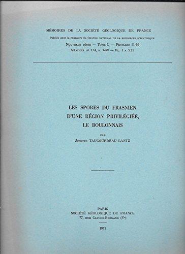 Les spores du frasnien d'une région privilégiée, le boulonnais par Taugourdeau Lantz J