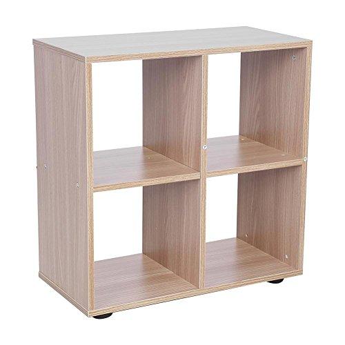 Regal Kubus Holz, Maßstab 4Etagen (mit 10Regalen Würfel) Design um die Bücher, Vase und andere Artikeln geeignet geeignet zu ihrem Wohnzimmer, Studio, Camera oder Wo denkt auch geeignet Rovere 4cubi -