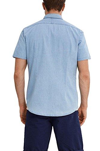 ESPRIT Herren Freizeit Hemd 047ee2f024 Blau (Blue Bleached 904)