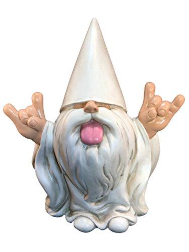 """Rockerzwerg - """"George"""" - dieser Zwerg wird Ihren Feengarten und Gartenzwerge von GlitZGlam rocken. 10 Inch große Gartenzwergfigur"""