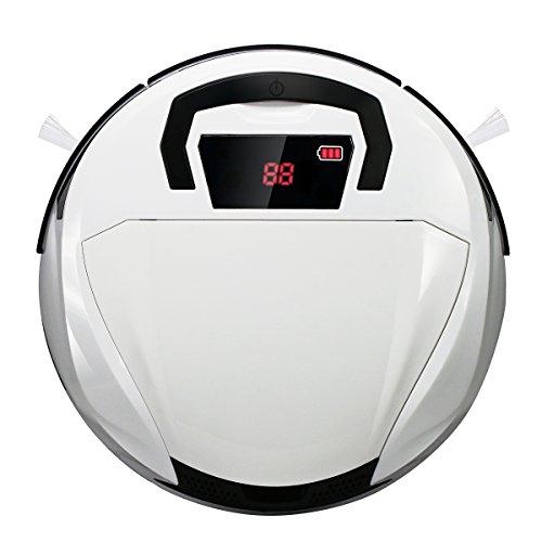 FINE DRAGON Intelligenter Roboter-Staubsauger Reinigungsroboter Bodenreiniger Saugroboter Kehrmaschine mit HEPA Filter inkl. Ecke Bürste ,Weiß (Type B)