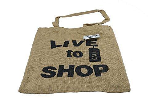 Eco Friendly iuta naturale Tote Shopping Bag 4grandi disegni Live