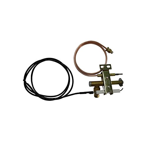 Earth Star Gas Fritteuse Universal Pilot Brenner mit 900mm Piezo Draht und Thermoelement M9x 1Gewinde (Thermoelement-brenner)