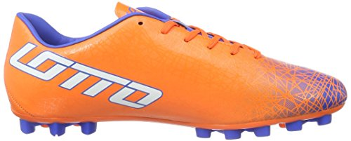 Lotto Lzg Viii 700 HG28, Chaussures de Foot Homme Multicolore - Naranja / Blanco (Fant Fl / Wht)