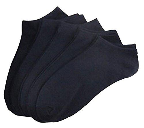 Set de 5 chaussettes courtes chaussettes en coton hommes chaussettes Noir