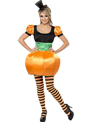 Devil Kostüm Sweet - erdbeerclown - Damen Frauen Kostüm süßes Kürbis Rock mit Oberteil und Kummerbund, Sweet Pumpkin Dress, perfekt für Halloween Karneval und Fasching, L, Orange