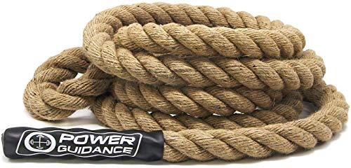 POWER GUIDANCE Kletterseil, Manila Kletterseil, Climbing Rope 3.8cm Durchmesser, Keine Halterung benötigt, Länge verfügbar: 4.5, 6, 7.5, 9, 10.5, 12, 15 Meter (4M)