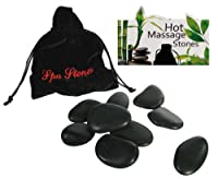 Luxury Hot Stones Massage Set (9 stones Provided) - Your very own Spa Treatment at Home - Ladies Perfect Ideal Christmas Present / Gift / Stocking Filler Ideal Gift for The Gardener