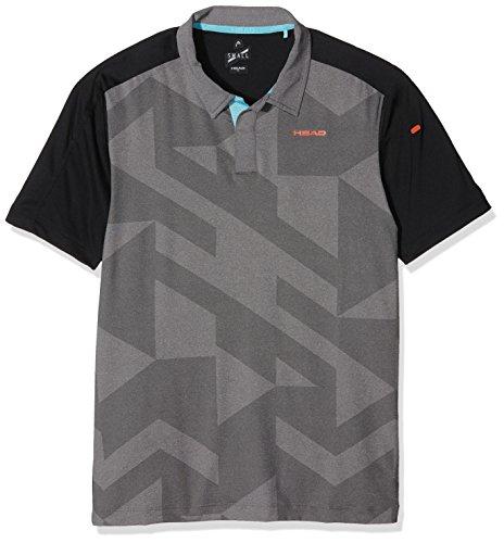 HEAD Herren Polo-Shirt Vision Camden, Schwarz, M, 811256
