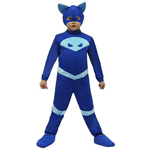 VESTITO COSTUME Maschera di CARNEVALE - PJ Masks - Super pigiamini - Gattoboy - Taglia 5/6 anni - 88 cm