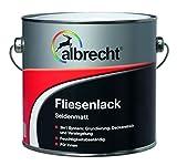 Albrecht 3400605771901002500 Fliesenlack seidenmatt weiß 2,5l