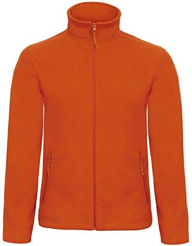 B & C Collection ID. 501pour homme en polaire 100% polyester micropolaire zippée pour femme Orange - Orange citrouille
