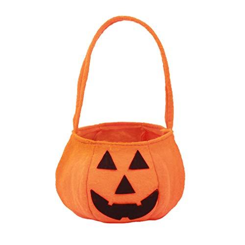 eln-Kürbis-Beutel-Eimer-Beutel-Süßigkeit-Beutel-Handtaschen-Süßes sonst gibt's Saures-Beutel-Speicher-Beutel-Eimer-Taschen-Organisator für Halloween-Party-Dekor ()