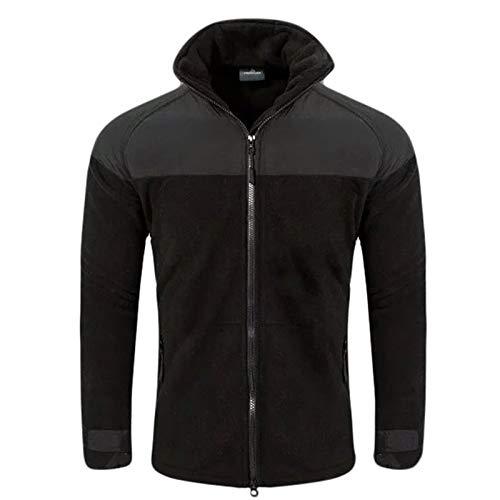 Tarnung Shjzom Winter Taktische Softshell Fleece warme Jacke Männer Casual Military Wear Army Jacket Black L Army Black Fleece-jacke