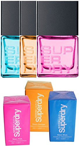 Superdry Neon mini Gift Set Ladies Eau de Toilette (3 x 25 ml)