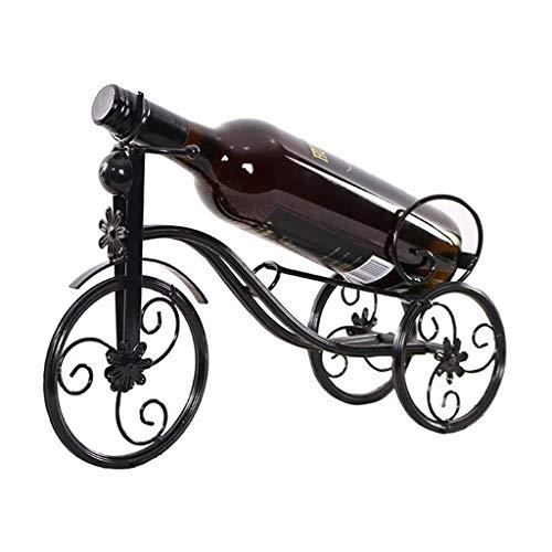 Giow Startseite Weinflaschenregal | Moderner minimalistischer Speisetisch Weinregal | Dekorative Kreative Fahrrad Metall Schmiedeeisen Tragbare Weinschrank Wohnzimmer Tisch Display Rack Flasche R -