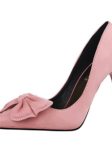 WSS 2016 Chaussures Femme-Décontracté-Noir / Rose / Rouge / Gris / Corail-Talon Aiguille-Talons-Talons-PU red-us8 / eu39 / uk6 / cn39