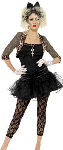 erdbeerloft - Damen Kostüm im 80er Jahre Stil Leoparden- Katzenlook , 44, Schwarz
