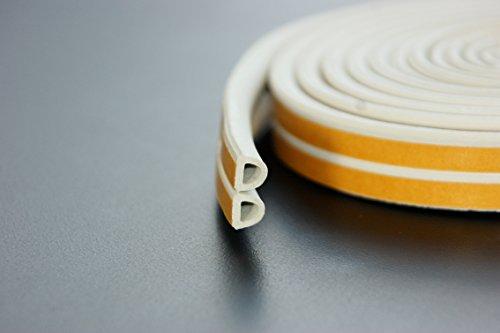 6 m Blanc - Profil d Boudin de porte EPDM Joint d'étanchéité en caoutchouc et en mousse pour fenêtre ou porte