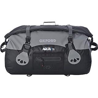 Oxford Unisex's Aqua T-70 Roll Bag, Black/Grey, 70 Litre