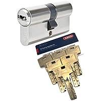 5 Schl/üssel inkl verschiedenschlie/ßend Sicherungskarte Sicherheitszylinder ABUS Y14 Knaufzylinder 30//30K inkl K=Knaufseite