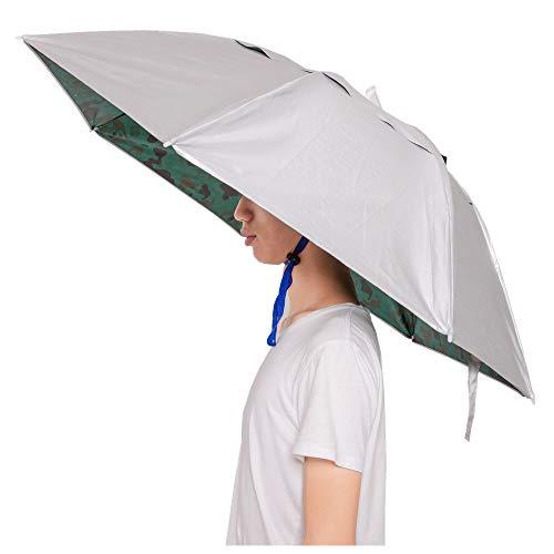 ut, handfreie Hut, Halloween-Kostüm, Kopfbedeckung mit gratis festziehbarem Clip für Angeln, Garten, Wandern, Herren, Camouflage ()