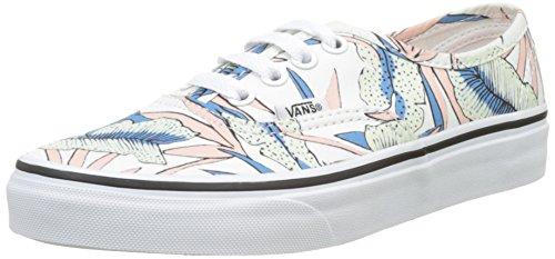 Vans Ua Authentic, Sneakers Basses Femme Multicolore (Tropical Leaves)