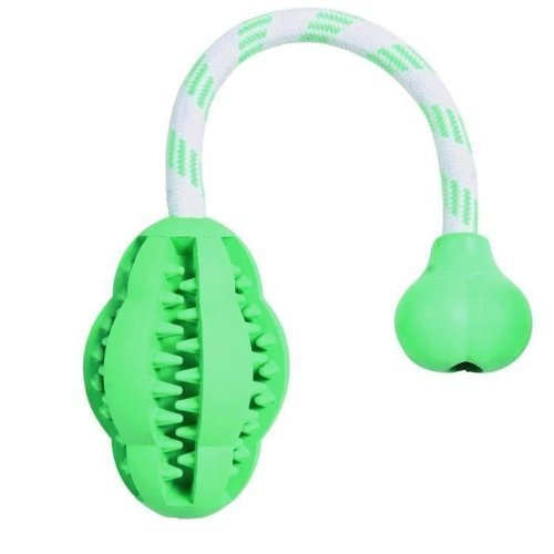 Trixie Natural Rubber Denta Fun Mintfresh Jumper on a Rope for Dog