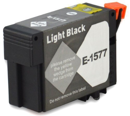R3000 Light (Bubprint Druckerpatrone kompatibel für Epson T1577 C13T15774010 für Stylus Photo R3000 R 3000 R-3000 Hell Schwarz/Light Black)